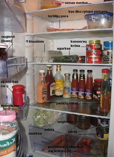 Šaldytuvo turinys