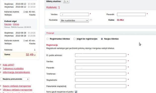 Keleivių registracija