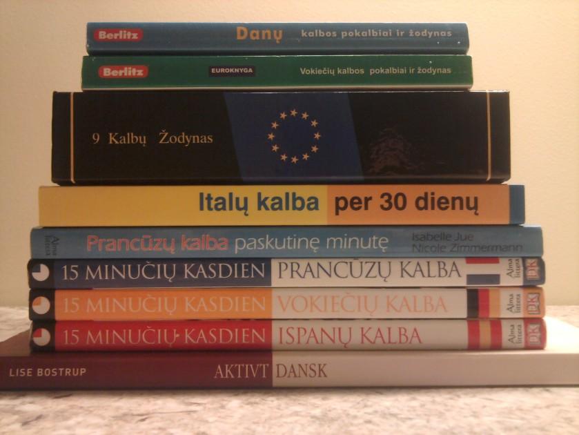užsienio kalbų mokymosi knygos