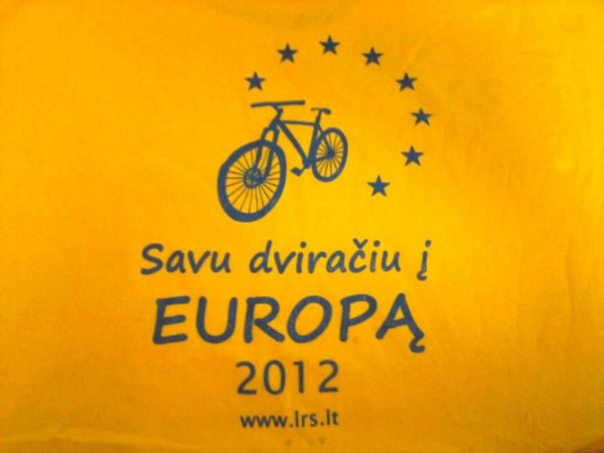 savy dviračiu į Europą 2012