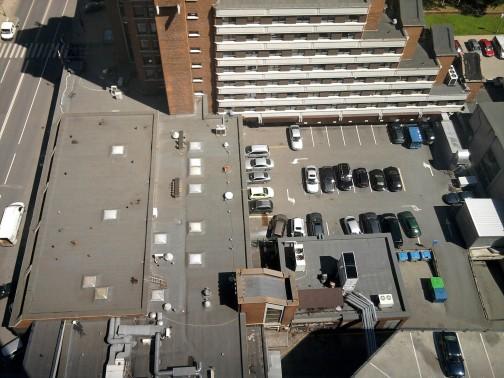 Vaizdas iš viešbučio 20-o aukšto rūkyklos
