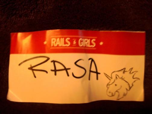 Rails Girls Tallinn dalyvio kortelė