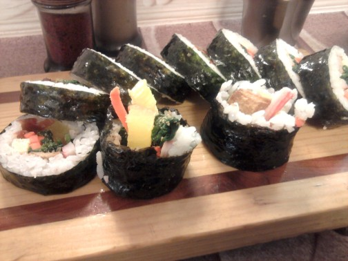 Gimbap - korėjietiški suši